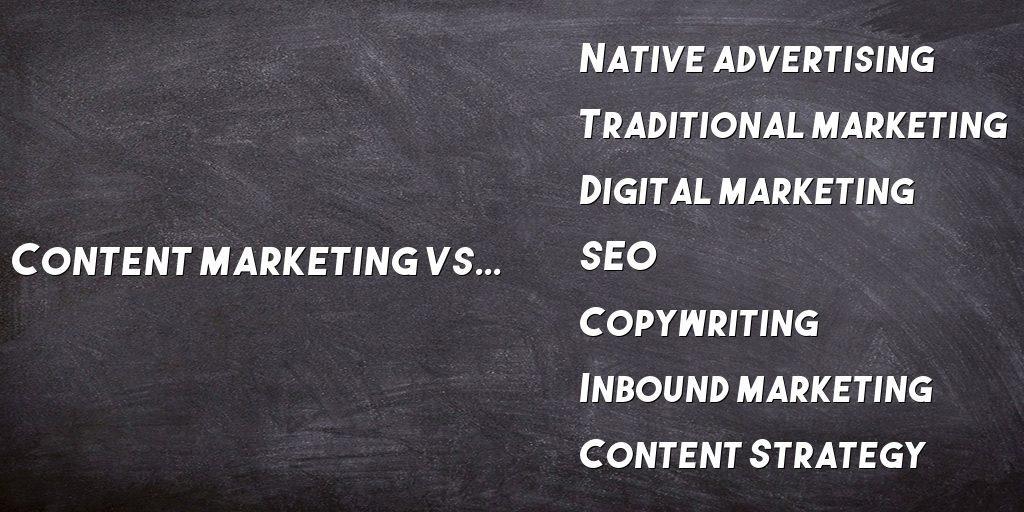 content marketing vs