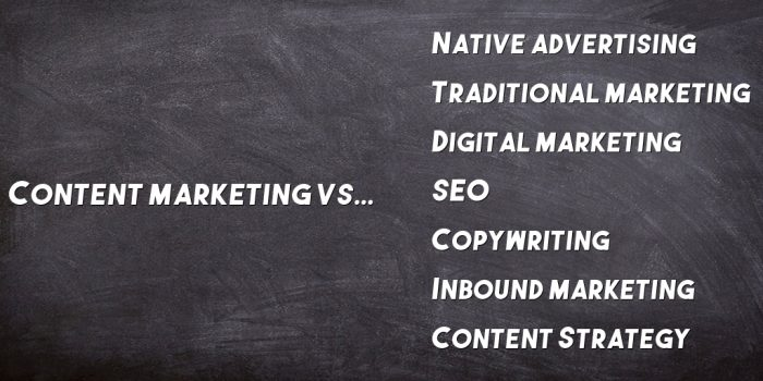 Read more about the article Content Marketing vs Inbound Marketing (+6 Other Marketing Types)