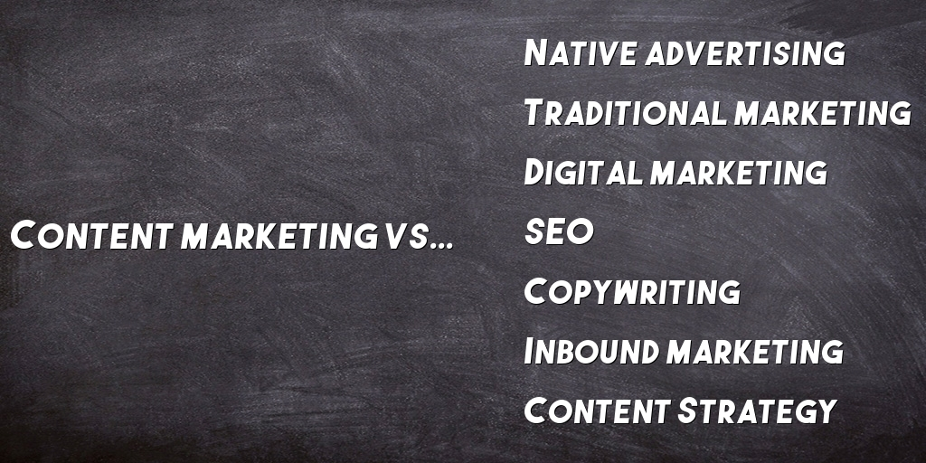 content marketing vs inbound marketing and others