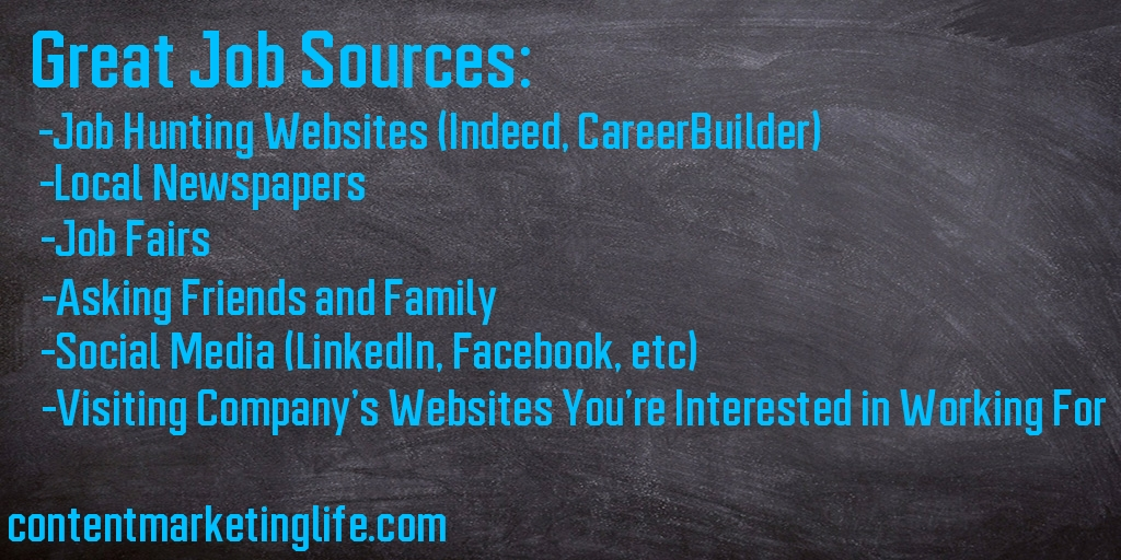 sources for finding a job quickly