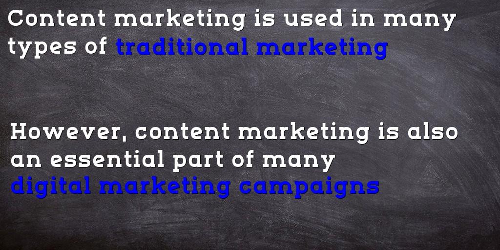 digital marketing vs content marketing