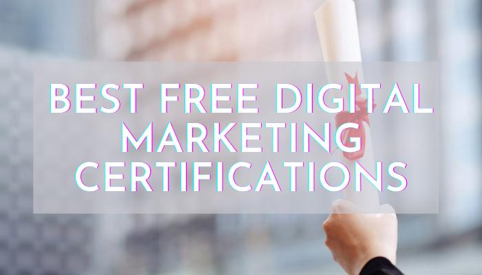 best digital marketing certifications